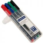 Staedtler 317 WP4 OHP Film Pens (Pack of 4)