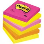 Post-it® Warm Neon Rainbow 76x76mm – Pack of 6
