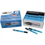 Show-Me Dry Wipe Pens Black Fine (Pack of 100)