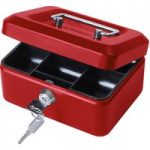Cathedral 6in. Cash Box Red