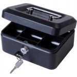 Cathedral 6in. Cash Box Black