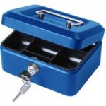 Cathedral 6in. Cash Box Blue