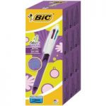 BiC 4 Colour Pen, Purple Barrel – Purple, Pink, Blue and Green (Pa…