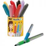 BiC Marking Colour Permanent Markers Assorted Pot 9+1