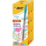 BiC Large Cristal Fun Colours Ball Pen Pink, Purple, Blue, Green P…