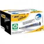 BiC Velleda 1701 White Board Marker Black (Pack of 12)