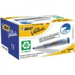 BiC Velleda 1701 White Board Marker Blue(Pack of 12)