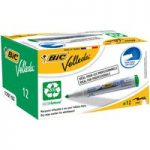 BiC Velleda 1701 White Board Marker Green (Pack of 12)