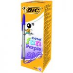 BiC Cristal Fun Ball Pen Purple Box of 20