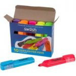 Swäsh Box 10 Premium Highlighters, 7 Assorted Cols