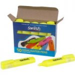 Swäsh Box 10 Premium Highlighters, Individual Cols. Yellow