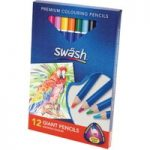 Swäsh Box 12 Premium Triangular Komfigrip Giant Colouring Pencils