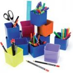 RVFM Class Pack 12 Coloured Desk Pots