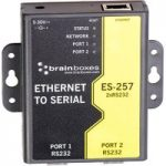 Brainboxes ES-257 2 Port RS232 Ethernet to Serial Adapter