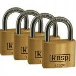 Kasp K12520D4 Premium Brass Padlock – 20mm – Quad