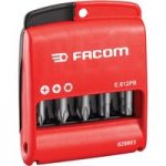 Facom E.612PB Set Of 10 Bits 50 mm Long With Groove