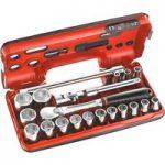 Facom SL.DBOX1 1/2in Standard 6 Point Socket Set 1/2in Drive 21 Piece