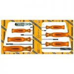 Bernstein 4-850 Screwdriver Set With Special Square Pattern Handle…