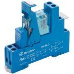 Finder 49.52.7.024.0050 Interface Relay Module 24VDC 8A DPDT (AgNi)
