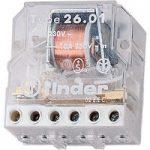 Finder 26.01.8.012.0000 10A Step Relay 12VAC SPST-NO