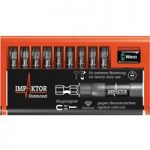 Wera 05057680001 Impaktor Diamond Hard Bit Set PZ/PH/TX/Hex 10pc