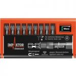 Wera 05057684001 Impaktor Diamond Hard Bit Set PZ 10pc