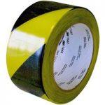 3M™ 7100015263 766i Hazard Marking Vinyl Tape PVC Black/Yellow 50m…