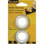 3M™ 6651263 Scotch Double Sided Tape 12mm x 6.3M™ Pack Of 2