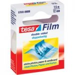 tesa® 57910 Film Double Sided Adhesive Tape Transparent 12mm x 7.5m