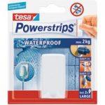 tesa® 59702 White Waterproof Self Adhesive Hook