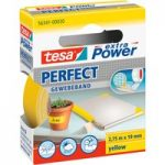 tesa® 56341 Extra Power Fabric Tape – Yellow – 19mm x 2.75m