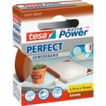 tesa® 56341 Extra Power Fabric Tape – Brown – 19mm x 2.75m
