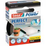 tesa® 56341 Extra Power Fabric Tape – Black – 19mm x 2.75m