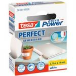 tesa® 56341 Extra Power Fabric Tape – White – 19mm x 2.75m