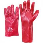 Worky 1482 PVC Red/Brown Glove 40cm Long