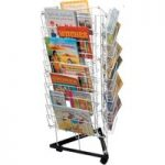 10 Shelves 3 Sided Mobile Book Stands 48 x 100 x 48cm