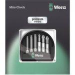 Wera 05073638001 Premium Mini-Check PH/PZ/Torx Bits, 6-Piece Set