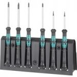 Wera 05118156001 2052/6 Kraftform Micro Hexagon Screwdrivers, Set of 6