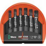Wera 05057693001 Mini-Check Impaktor 2 Torx Bits, 6-Piece Set
