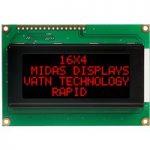 Midas Displays MC41605A12W-VNMLR 16×4 VATN LCD Display Negative Mo…