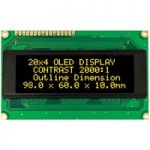 Winstar WEH002004A 20×4 OLED Display, Yellow