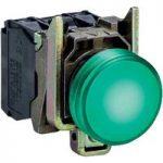 Schneider XB4BVB3 Complete Pilot Light Ø22 Plain Lens + Integral L…