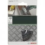 Bosch 2609256532 Wire Wheel Brush Ø 100mm Steel Shank Ø 6mm