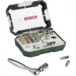 Bosch 2607017322 26-Piece Screwdriver Bit Set with Ratchet