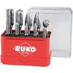 RUKO 116002 Tungsten Carbide Rotary Burrs – 10 Piece Set
