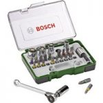 Bosch 2607017160 27-Piece Ratchet Screwdriver and Socket Set