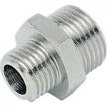 ICH 20102 Nipple Adaptor G1/8 to G1/8 60 bar Brass NP