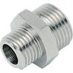 ICH 20105 Nipple Adaptor G1/2 to G1/2 60 bar Brass NP