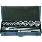 Walter Werkzeuge 1672/09 21591 1″ Socket-Wrench Set AF 25.4mm – 11…