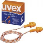 uvex 2111.201 Whisper Reusable Ear Plugs With Cord – 50 Pairs